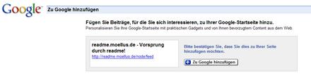 google reader startseite