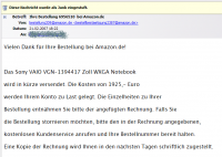 Amazon Spam- und Virus-Mail