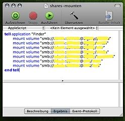 AppleScript Samba Shares mounten