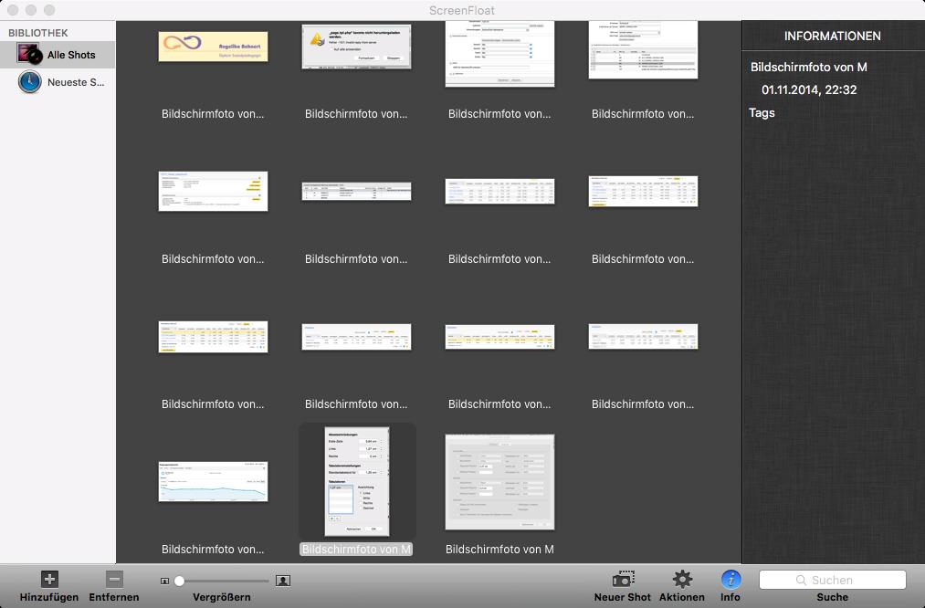 ScreenFloat: OS X Screenshot App