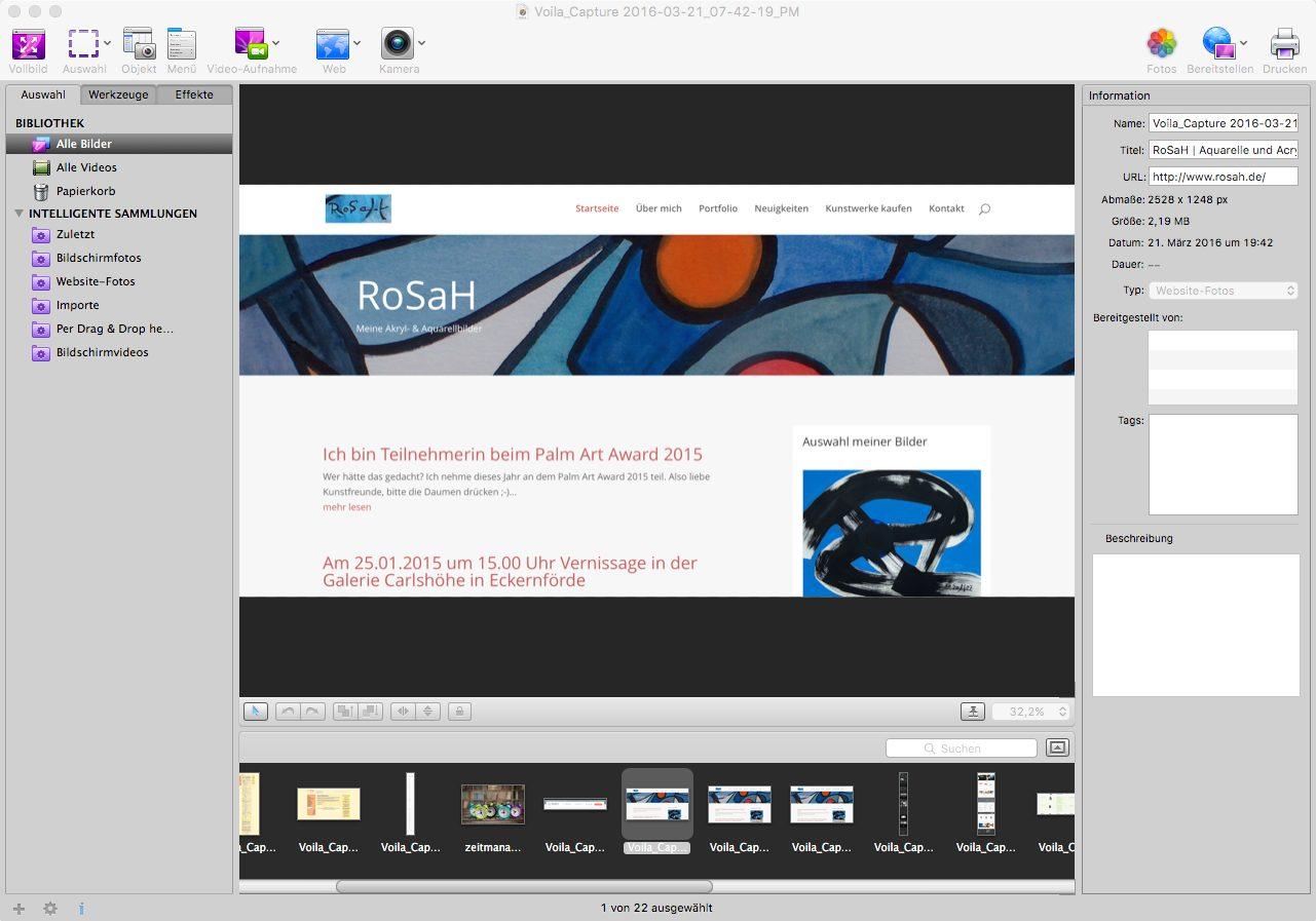 Voila: OS X Screenshot App
