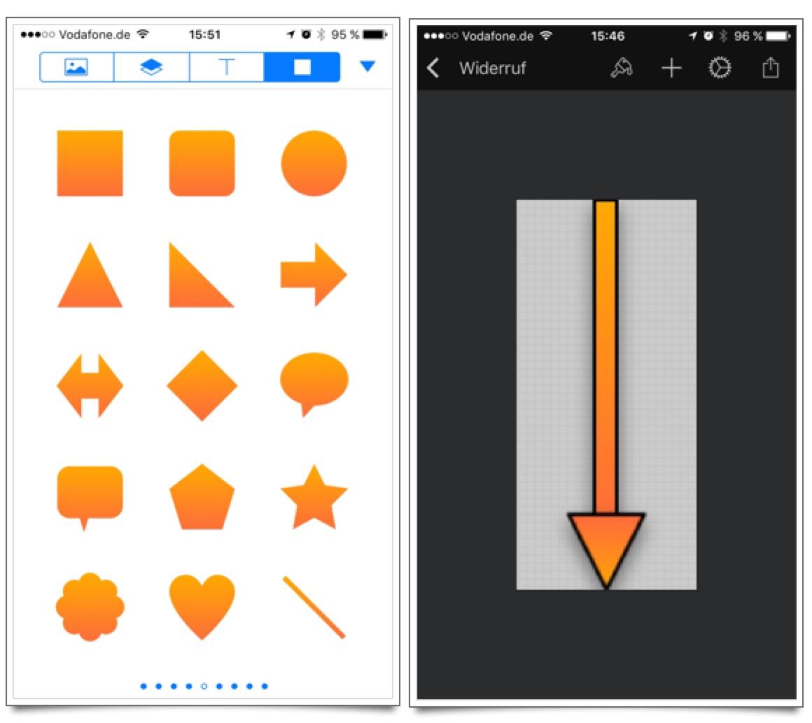 Pixelmator iOS: Hinweispfeil erstellen